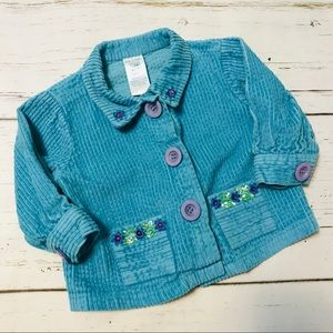 April Cornell Baby Girl Corduroy Jacket 6-12 Mo